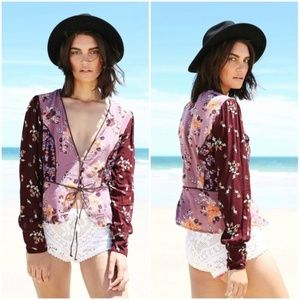 Free People Way the World Turns Floral Top Medium